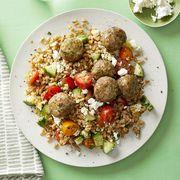 Herbed Pork Meatball and Farro Salad