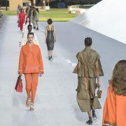 Runway, Fashion, Fashion show, Fashion model, Public event, Fashion design, Event, Summer, Haute couture, Runway,