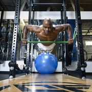 melvin sanders of sandersfit performance center in dallas, texas performs chaos band exercises on tuesday, july 20, 2021
