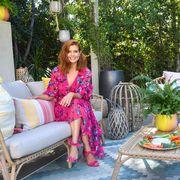 Backyard, Patio, Pink, Furniture, Botany, Garden, Yard, Leisure, House, Home,