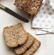 buckwheat nutrition bread kept on cutting board