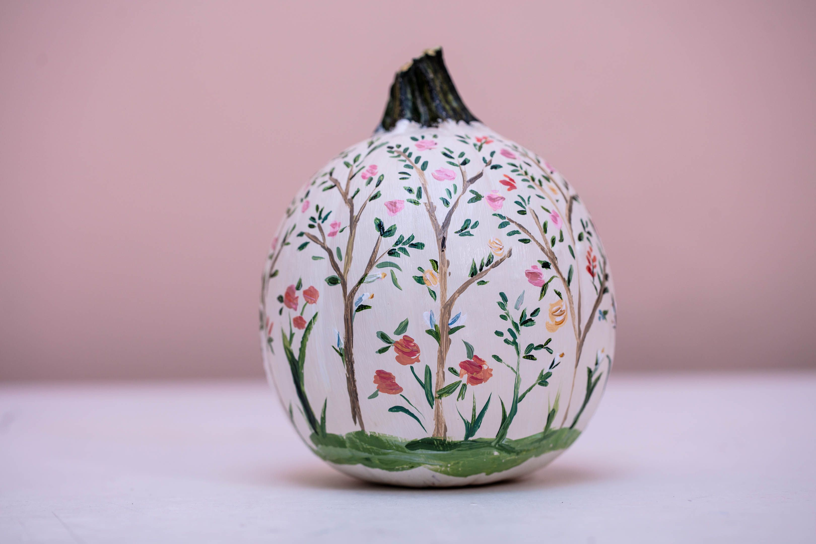 These Wallpaper-Inspired Pumpkins Are Next-Level Chic