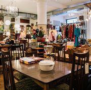 Restaurant, Building, Table, Room, Interior design, Furniture, Café, Coffeehouse, Brunch, Business,
