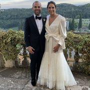Wedding dress, Photograph, Gown, Bridal clothing, Dress, Bride, Suit, Wedding, Ceremony, Formal wear,