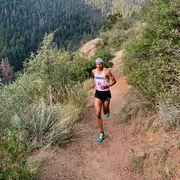 pro trail runner joe gray during a race