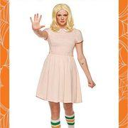 Clothing, Orange, Fashion, Footwear, Costume, Costume design, Dress, Fashion design, Pattern, Style,