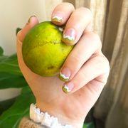 Nail, Nail polish, Finger, Nail care, Manicure, Cosmetics, Yellow, Hand, Skin, Toe,
