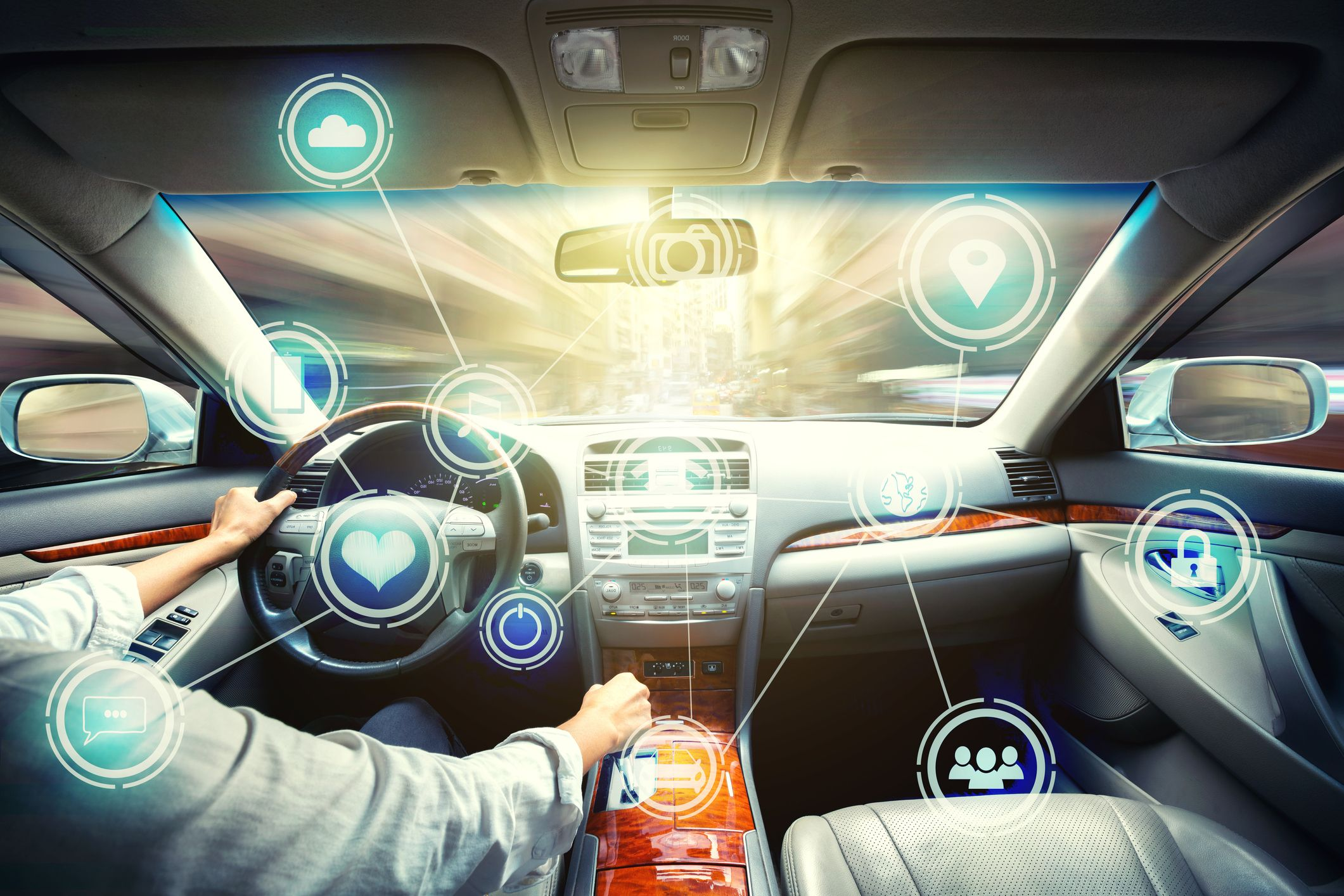 Intelligent vehicle cockpit and wireless royalty free image 1571770699