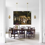 dining room with classic and modern mix