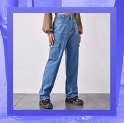 cargo pocket jeans