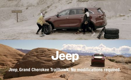 Jeep Mocks Kia Sorento's Off-Road Chops, Hamsters in Savage YouTube Ad