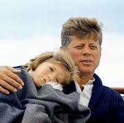 Caroline with her father