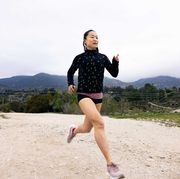 jinghuan liu tervalon running in los angeles in march 2021