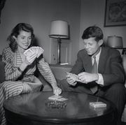john f kennedy with sister eunice