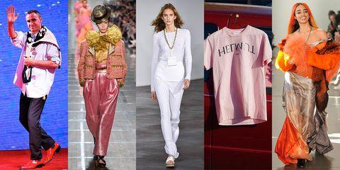 Clothing, Fashion, White, Fashion model, Pink, Runway, Fashion design, Fashion show, Footwear, Haute couture,