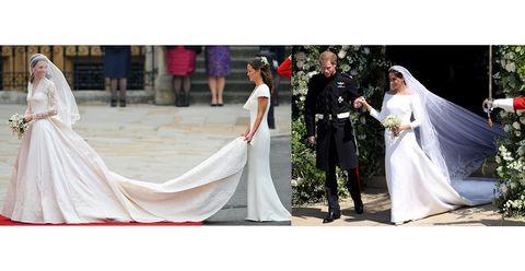 Gown, Dress, Wedding dress, Bride, Photograph, Clothing, Bridal clothing, Shoulder, Veil, A-line,