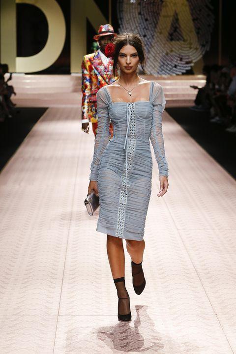Fashion model, Fashion show, Fashion, Runway, Clothing, Shoulder, Fashion design, Dress, Footwear, Joint,