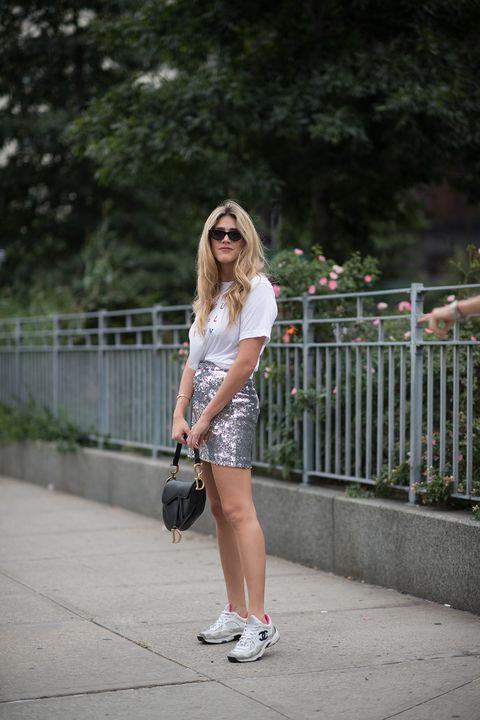 White, Street fashion, Photograph, Clothing, Footwear, Shoulder, Beauty, Fashion, Lip, Denim,