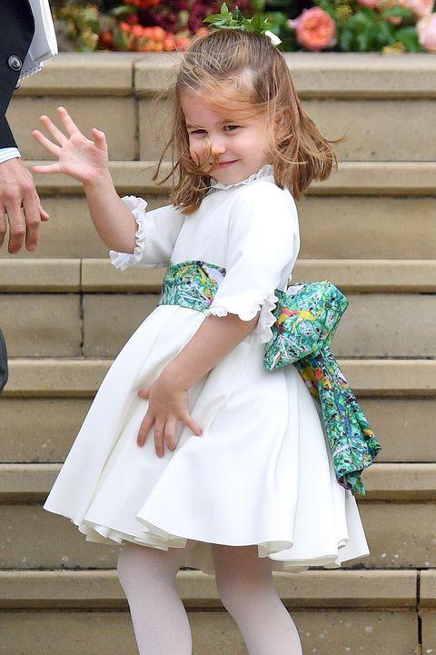 Clothing, White, Child, Footwear, Costume, Dress, Leg, Shoe, Smile, Child model,