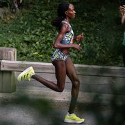 viola cheptoo lagat running the mini 10k in nyc 2021 for nyrr