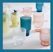 glassware and tray