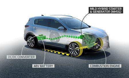 Kia Announces a 48-Volt Hybrid System