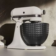 kitchenaid light and shadow stand mixer with ceramic bowl
