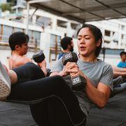 woman cross training