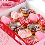 "krispy kreme ""dough notes"" heart shaped valentine's day donuts 2021"