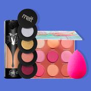 Eye shadow, Cosmetics, Eye, Beauty, Pink, Cheek, Organ, Material property, Tints and shades, Lip gloss,