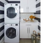 White, Room, Laundry room, Interior design, Property, Furniture, House, Floor, Ceiling, Home,