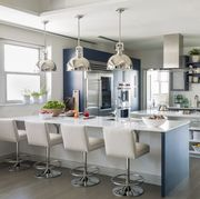 White, Countertop, Room, Furniture, Interior design, Property, Kitchen, Ceiling, Floor, Building,