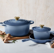 le creuset cookware in new blue color