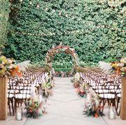 Aisle, Arch, Floral design, Floristry, Architecture, Flower Arranging, Ceremony, Flower, Wedding reception, Plant,