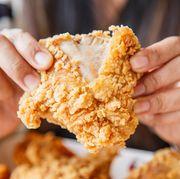 Dish, Food, Cuisine, Ingredient, Crispy fried chicken, Fried food, Gluten, Baked goods, Fried chicken, Produce,