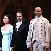"""""""hamilton"""" broadway opening night   arrivals and curtain call"""
