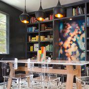 Building, Furniture, Shelving, Room, Interior design, Shelf, Bookcase, Table, Architecture, Bar,