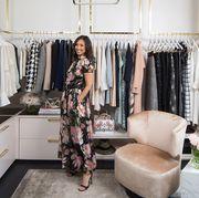 Boutique, Room, Closet, Fashion, Pink, Dress, Furniture, Interior design, Bedroom, Fashion design,