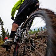riding in the rain   mountain biking