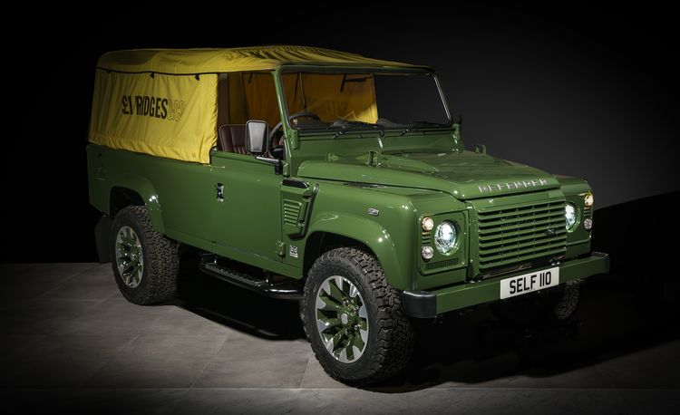 Land Rover Classic Built a Defender inside a Department Store