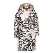 Clothing, Outerwear, Sleeve, Hood, Fur, Pattern, Coat, Pattern, Illustration, Costume design,
