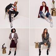 Clothing, Fashion, Shoulder, Fashion model, Footwear, Knee, Joint, Fashion design, Leg, Leggings,