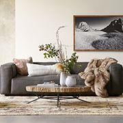 madrone leather sofa