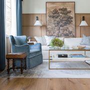 Furniture, Room, Living room, Interior design, Floor, Wall, Property, Wood flooring, Table, Coffee table,