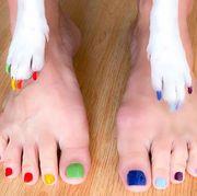 Toe, Nail, Foot, Finger, Leg, Nail polish, Nail care, Skin, Cosmetics, Hand,