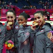olympic gymnasts then and now