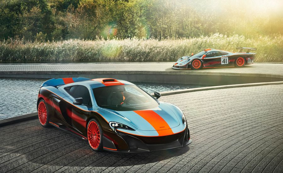 Custom McLaren 675LT Cribs Retro Style from F1 GTR Longtail Racer