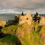 Sky, Natural landscape, Castle, Sea, Promontory, Cliff, Coast, Rock, Klippe, Highland,