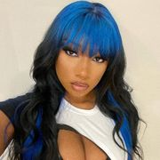 megan thee stallion blue black hair