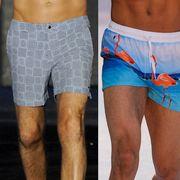 Men's short swim trunks